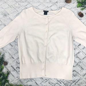 Ann Taylor Blush Pink Cardigan Sweater